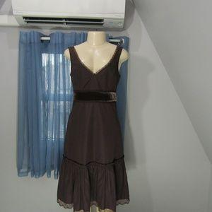 ODILLE  VELVET TRIM DRESS!